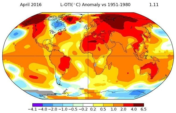 Temperature record APR frightens scientists